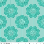 The Cottage Garden C4222 Teal Wallpaper by Riley Blake