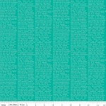 The Cottage Garden C4224 Teal Newsprint by Riley Blake