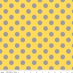 Dots Medium C430-11 Yellow Gray by Riley Blake