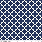 Quatrefoil C435-21 Navy by Riley Blake
