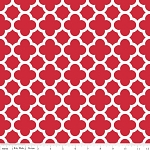 Quatrefoil C435-80 Red by Riley Blake