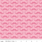 Geekly Chic C510-71 Hot Pink Mustache by Riley Blake