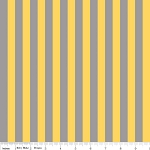 Small Stripe C530-130 Gray and Yellow by Riley Blake