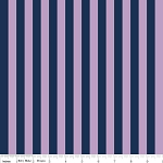Small Stripe C530-131 Navy and Purple by Riley Blake
