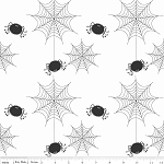 Holiday Banners C565 White Spider Webs by Riley Blake