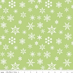 Holiday Banners C566 Green Snowflakes by Riley Blake