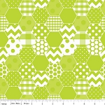 Hexi Print C770-32 Lime by Riley Blake