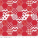 Hexi Print C770-80 Red by Riley Blake