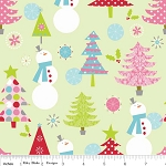 Christmas Basics C890-02 Lime Main by Riley Blake