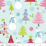 Christmas Basics C890-03 Blue Main by Riley Blake
