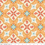 Calliope C3201 Orange Scroll by Stitch Studios for Riley Blake