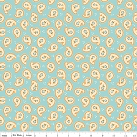 Calliope C3203 Aqua Paisley by Stitch Studios for Riley Blake EOB