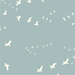 Flight Organic Canvas BDG-03 Mineral by Jay-Cyn Designs for Birch