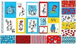 Cat in the Hat 10 Fat Quarter + Panel Set by Dr. Seuss for Kaufman