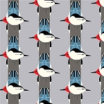 Charley Harper Organic KNIT K-CH-05 Upside Downside by Birch