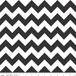 Chevron Medium C320-110 Black by Riley Blake