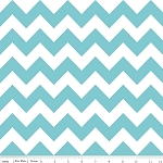 Chevron Medium C320-20 Aqua by Riley Blake EOB