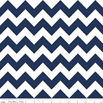 Chevron Medium C320-21 Navy Blue by Riley Blake