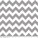 Chevron Medium C320-40 Gray by Riley Blake