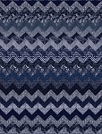 Indigo Blues Chevron Quilt Kit by Henry Glass