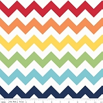 Chevron Large C330-01 Rainbow by Riley Blake