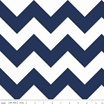 Chevron Large C330-21 Navy by Riley Blake