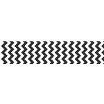 "Chevron Grosgrain Ribbon 7/8"" Black by Riley Blake"