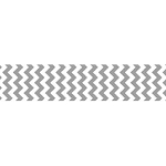 "Chevron Grosgrain Ribbon 7/8"" Gray by Riley Blake"