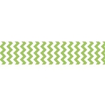 "Chevron Grosgrain Ribbon 7/8"" Lime by Riley Blake"