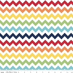 Chevron Small C340-01 Rainbow by Riley Blake