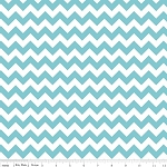 Chevron Small C340-20 Aqua by Riley Blake EOB