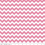 Chevron Small C340-70 Hot Pink by Riley Blake