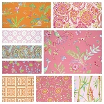 Chinoiserie Chic 9 Fat Quarter Set in Pink by Free Spirit