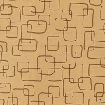 Chirp 9794-172 Brown Squares by Robert Kaufman EOB