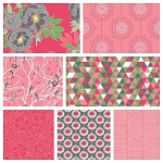 The Cottage Garden 7 Fat Quarter Set in Pink by Riley Blake