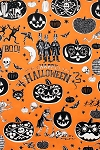 Crafty Calaveras 7954-A Orange by Alexander Henry