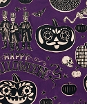 Crafty Calaveras 7954-CR Prune by Alexander Henry