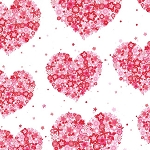 Hearts and Flowers CX4913 Red by Michael Miller