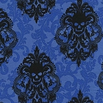 Goth Damask CX6487 Royal by Michael Miller