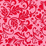 Swirly Hearts CX6707 Poppy by Michael Miller