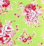 Darla TW22-Green Picnic Rose by Tanya Whelan for Free Spirit