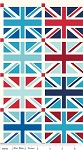 Union Jack DC570 Blue Squares Panel by Riley Blake