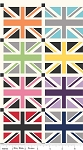 Union Jack DC570 Gray Squares Panel by Riley Blake