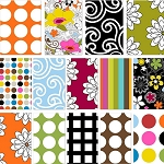 Delight/Multidot 11 Fat Quarter Set by French Bull for Windham