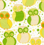 Della Flannel FVW17 Little Owls Sun by Free Spirit EOB