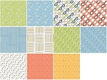 Desk Job 11 Fat Quarter Set by Fierce Mally for Windham