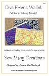 Diva Frame Wallet Pattern by Sew Many Creations
