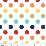 Dots Medium C360-01 Rainbow by Riley Blake