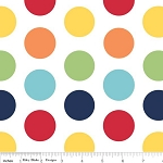 Dots Large C370-01 Rainbow by Riley Blake EOB