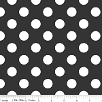 Dots Medium C360-110 Black by Riley Blake